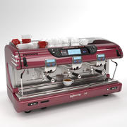 La spaziale Coffee Machine Burgundy 3 group 3d model
