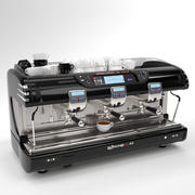 La spaziale Coffee Machine Black 3 group 3d model