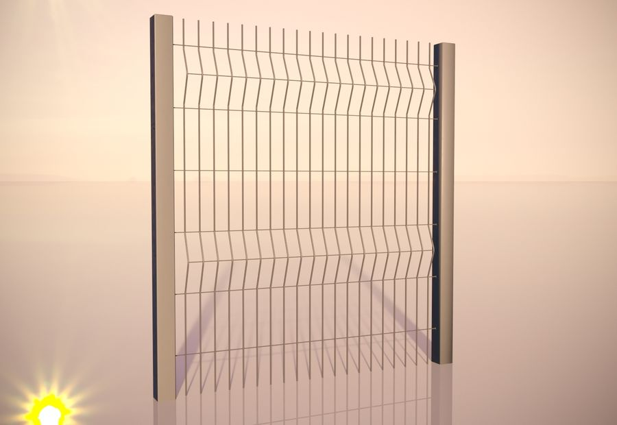 fence_04 royalty-free 3d model - Preview no. 4