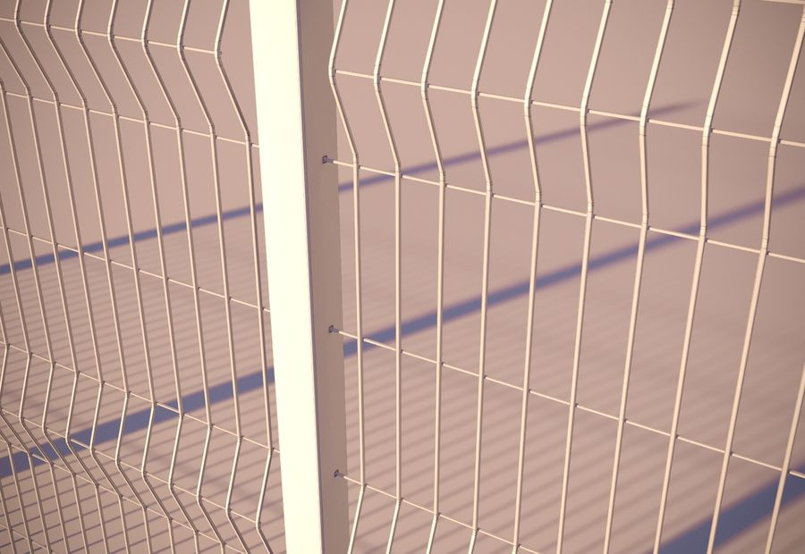 fence_04 royalty-free 3d model - Preview no. 7