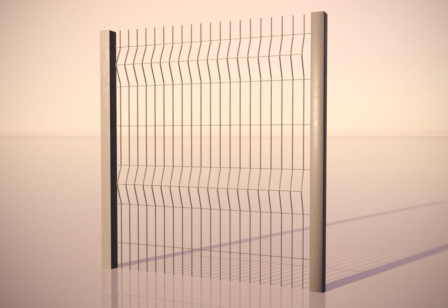 fence_04 royalty-free 3d model - Preview no. 3