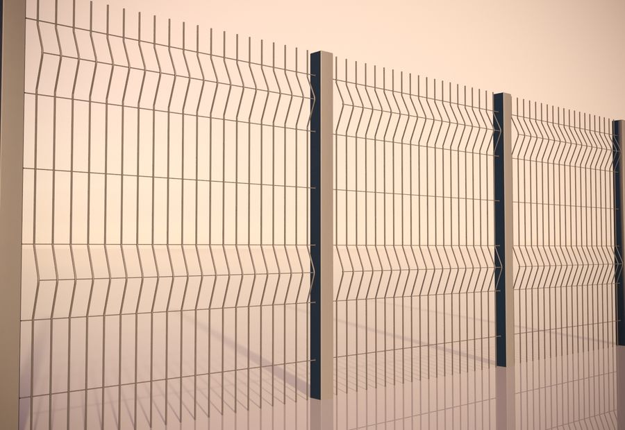 fence_04 royalty-free 3d model - Preview no. 5