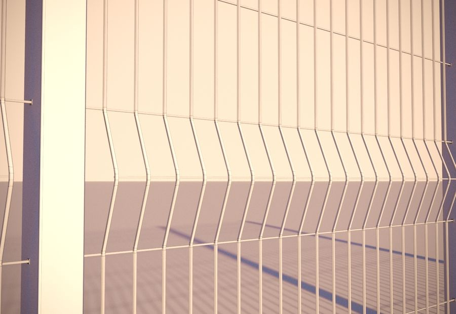 fence_04 royalty-free 3d model - Preview no. 6