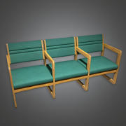 Chairs Waiting Room Hospital (HPL) - PBR Game Ready 3d model