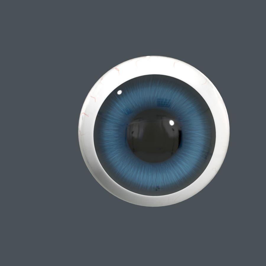 Cartoon Eyeball royalty-free 3d model - Preview no. 3