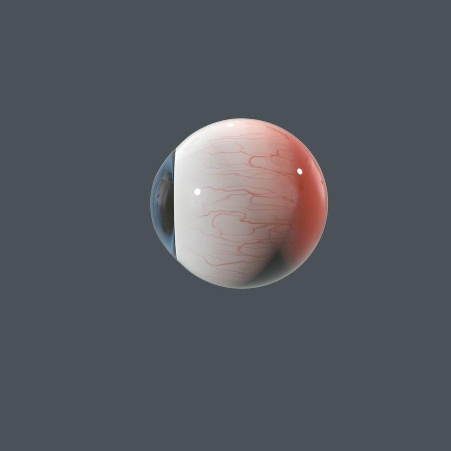 Cartoon Eyeball royalty-free 3d model - Preview no. 4