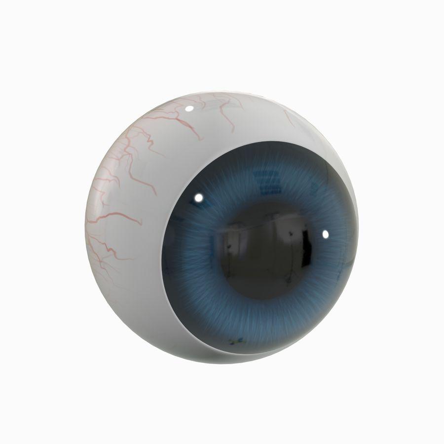 Cartoon Eyeball royalty-free 3d model - Preview no. 1