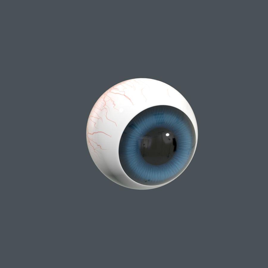 Cartoon Eyeball royalty-free 3d model - Preview no. 2