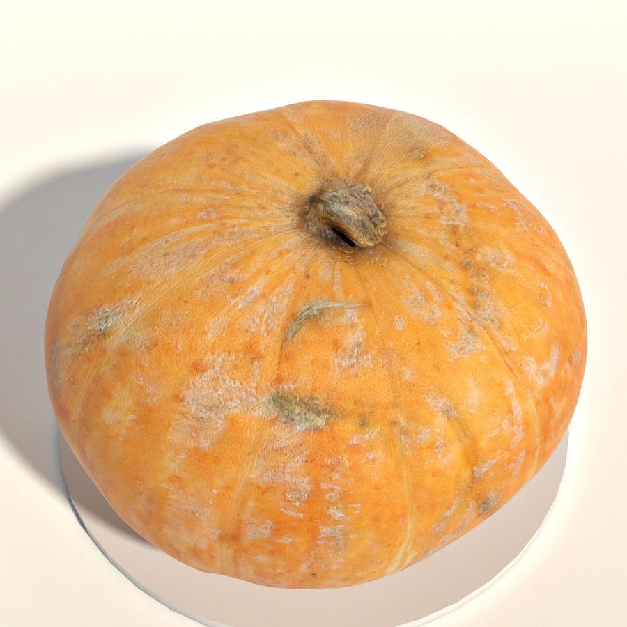 Orange pumpkin royalty-free 3d model - Preview no. 5