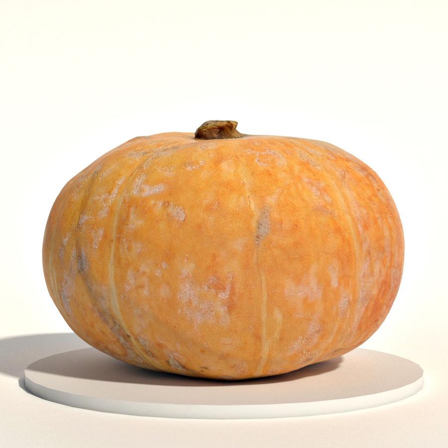 Orange pumpkin royalty-free 3d model - Preview no. 1