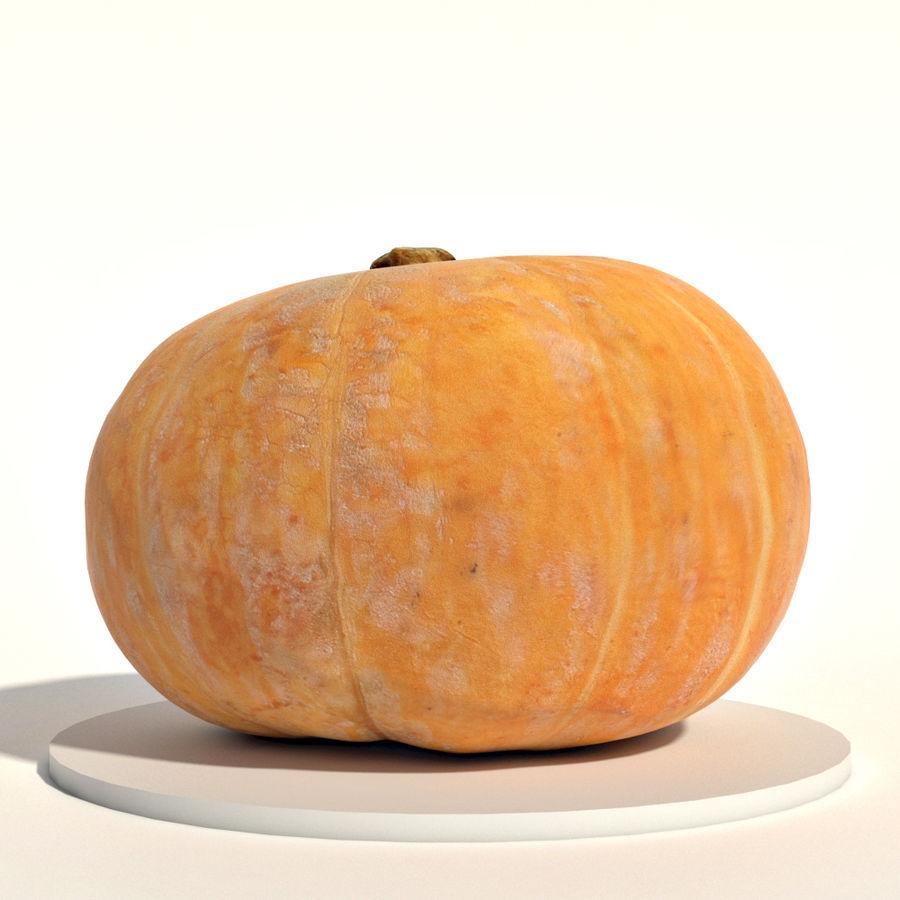 Orange pumpkin royalty-free 3d model - Preview no. 4
