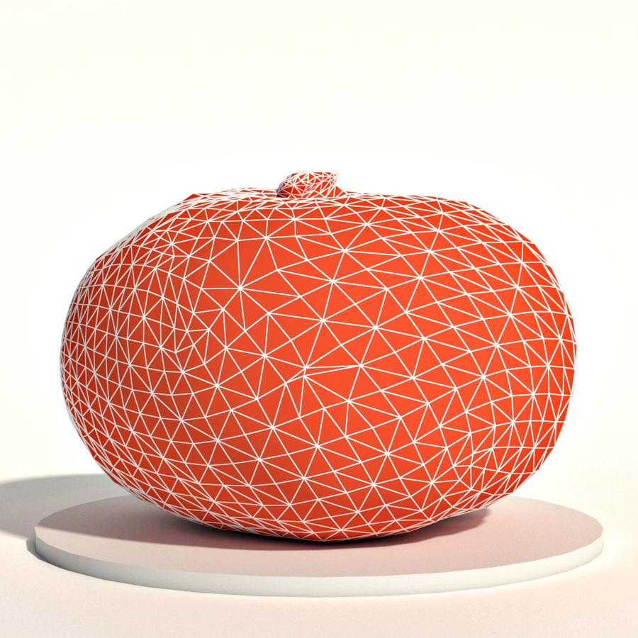 Orange pumpkin royalty-free 3d model - Preview no. 2