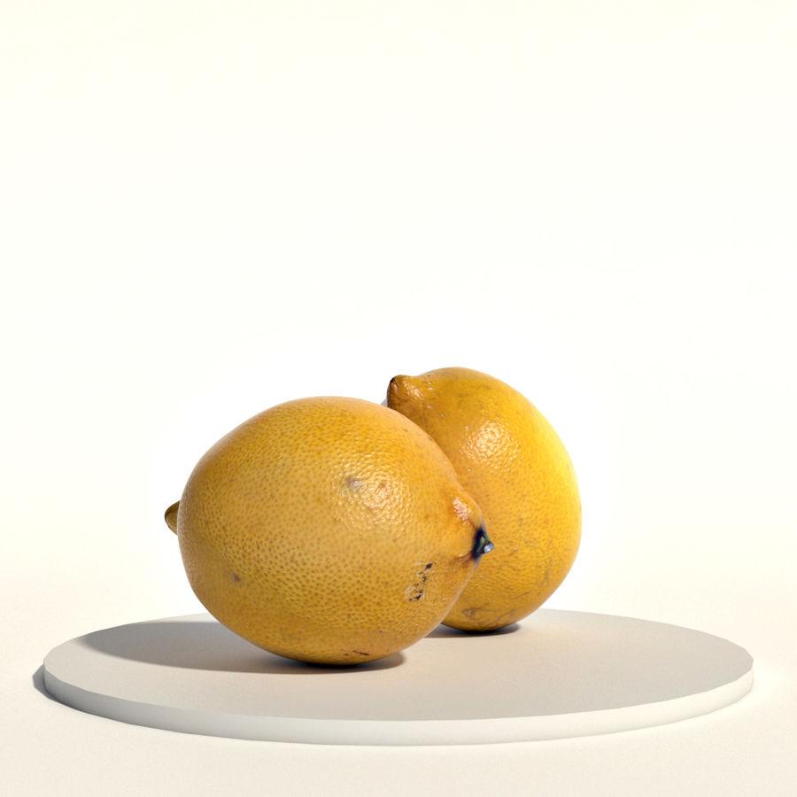 Lemons royalty-free 3d model - Preview no. 1
