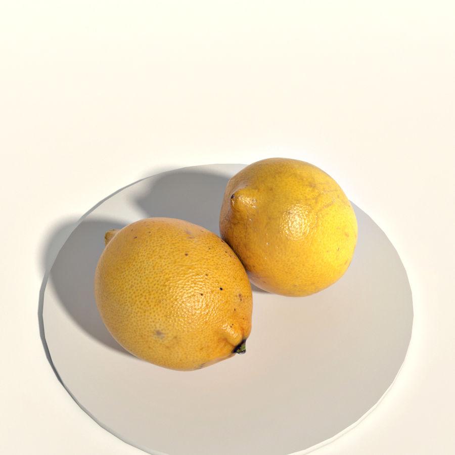 Lemons royalty-free 3d model - Preview no. 5