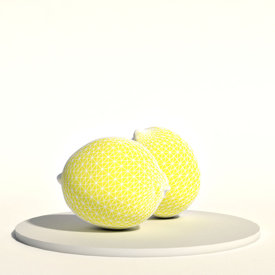 Lemons royalty-free 3d model - Preview no. 2