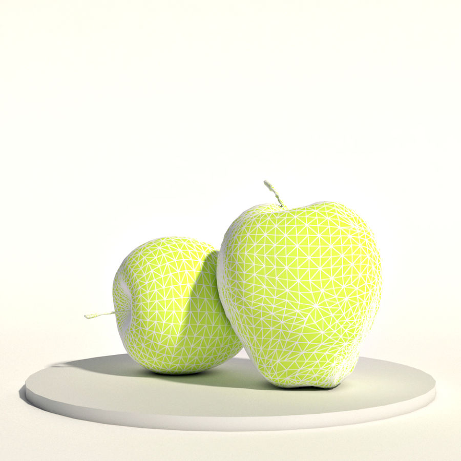 Apples red and green royalty-free 3d model - Preview no. 2