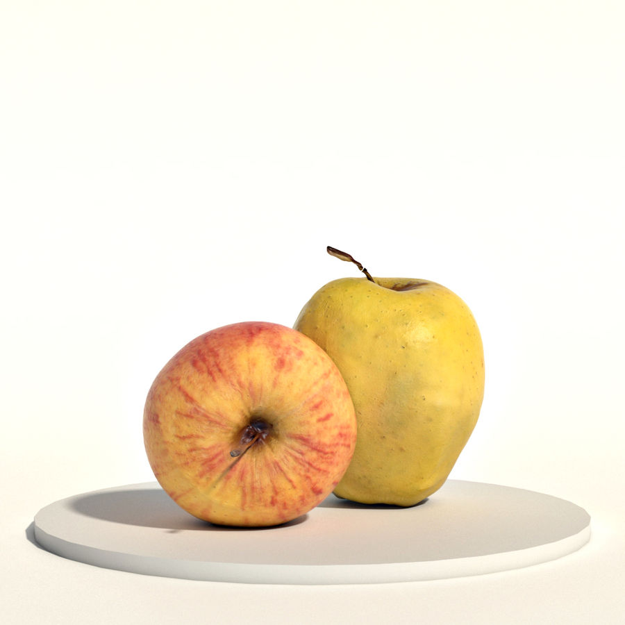 Apples red and green royalty-free 3d model - Preview no. 3