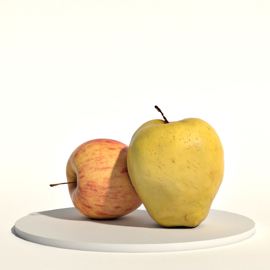 Apples red and green royalty-free 3d model - Preview no. 1