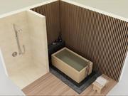 Bagno e doccia giapponesi 3d model