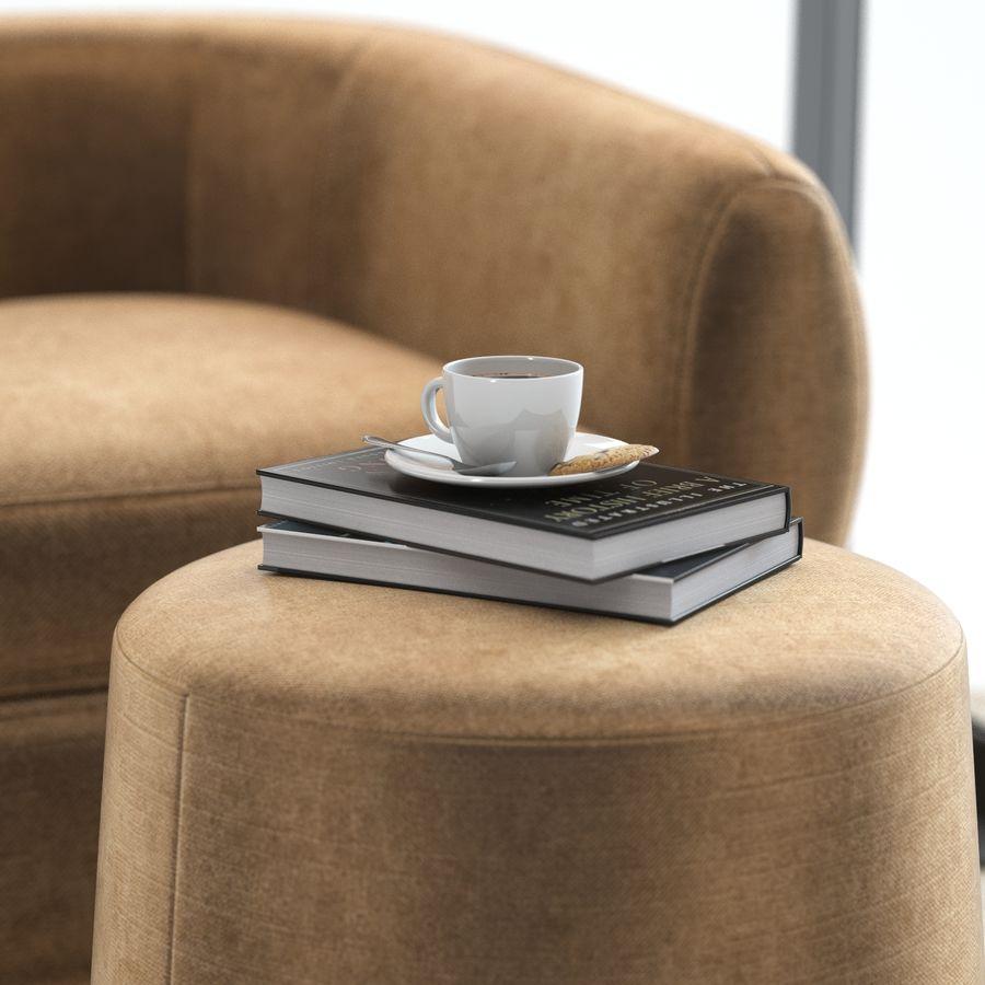 Muebles Baker - Sillón royalty-free modelo 3d - Preview no. 3