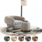 Meble Baker - fotel 3d model