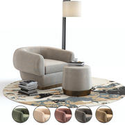 Baker Furniture - Loungesessel 3d model