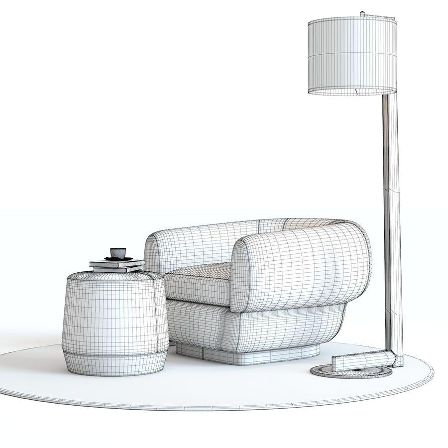 Muebles Baker - Sillón royalty-free modelo 3d - Preview no. 5