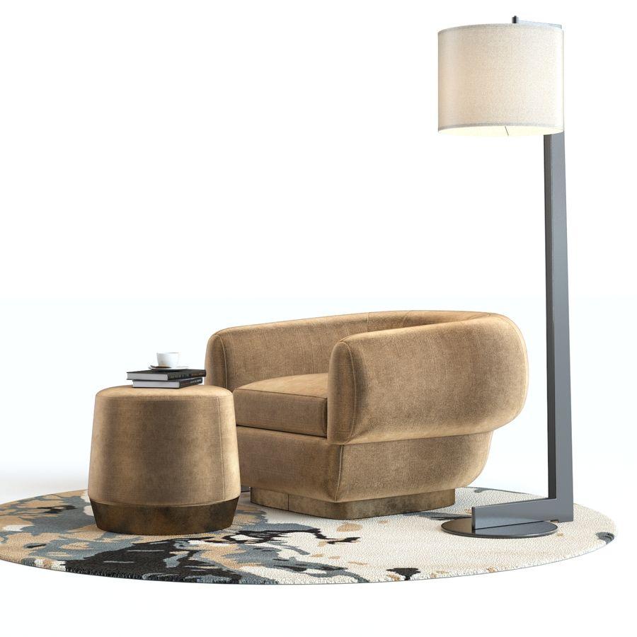 Muebles Baker - Sillón royalty-free modelo 3d - Preview no. 6