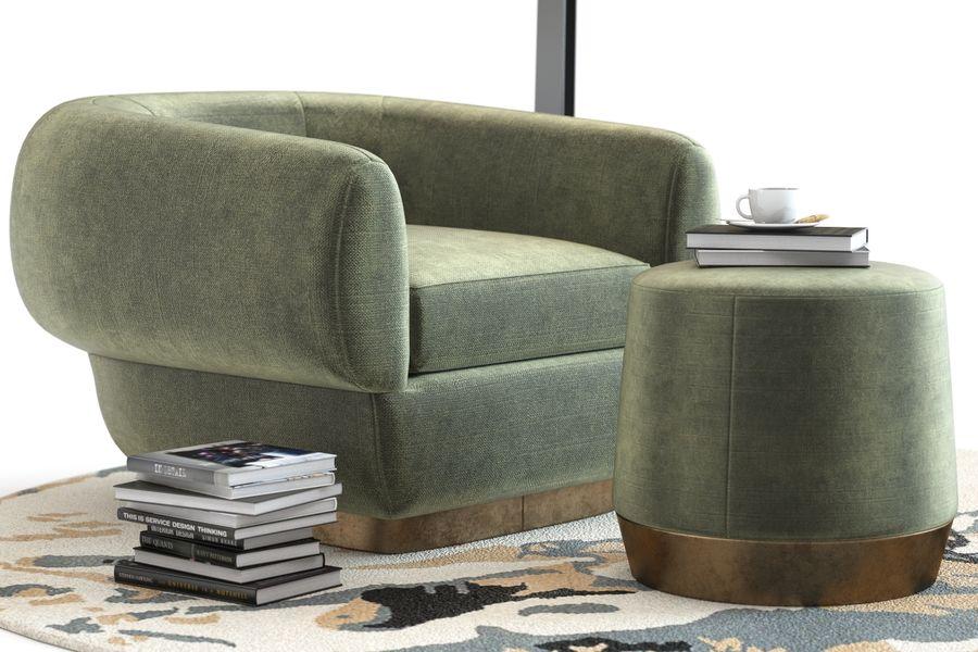 Muebles Baker - Sillón royalty-free modelo 3d - Preview no. 4