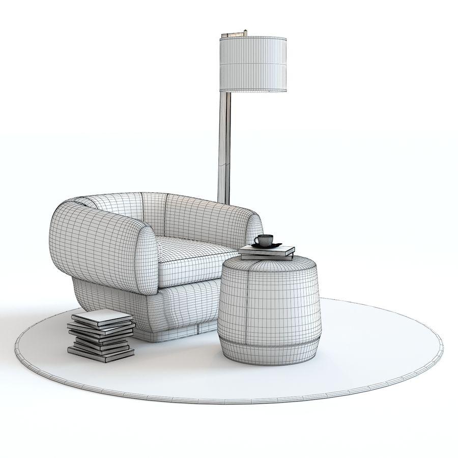 Muebles Baker - Sillón royalty-free modelo 3d - Preview no. 13