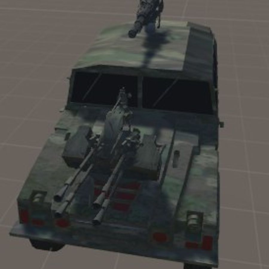 Battle Vehicle royalty-free 3d model - Preview no. 1