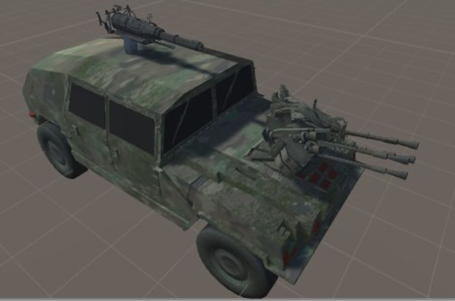 Battle Vehicle royalty-free 3d model - Preview no. 2