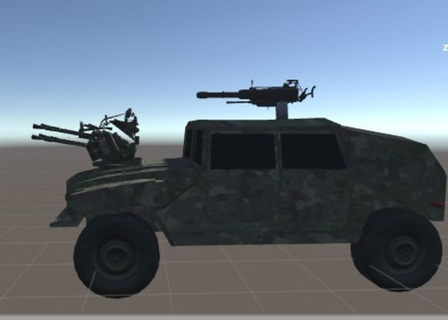 Battle Vehicle royalty-free 3d model - Preview no. 5