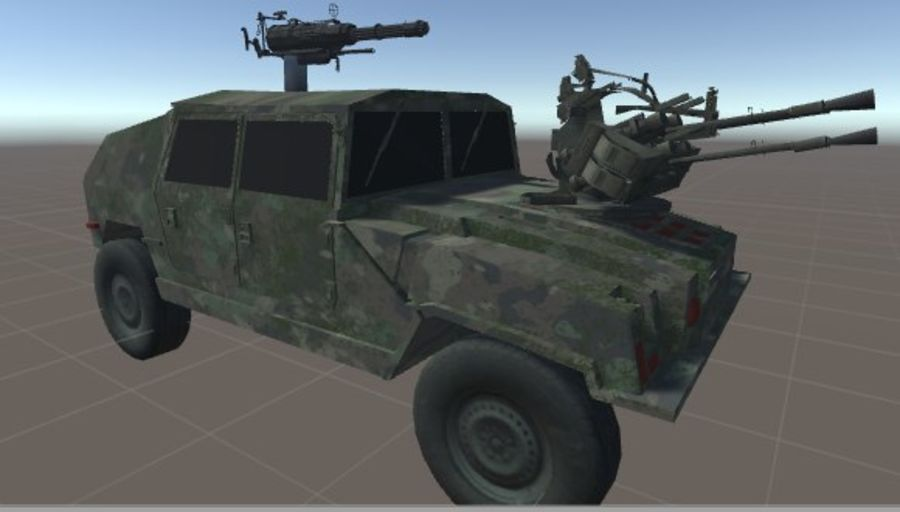 Battle Vehicle royalty-free 3d model - Preview no. 4