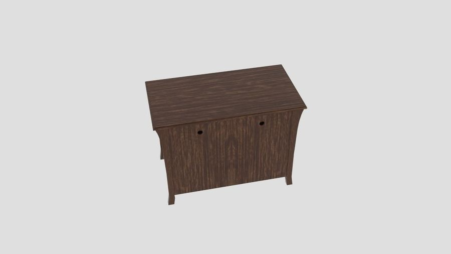 Bedroom Furniture Media Chest royalty-free 3d model - Preview no. 3