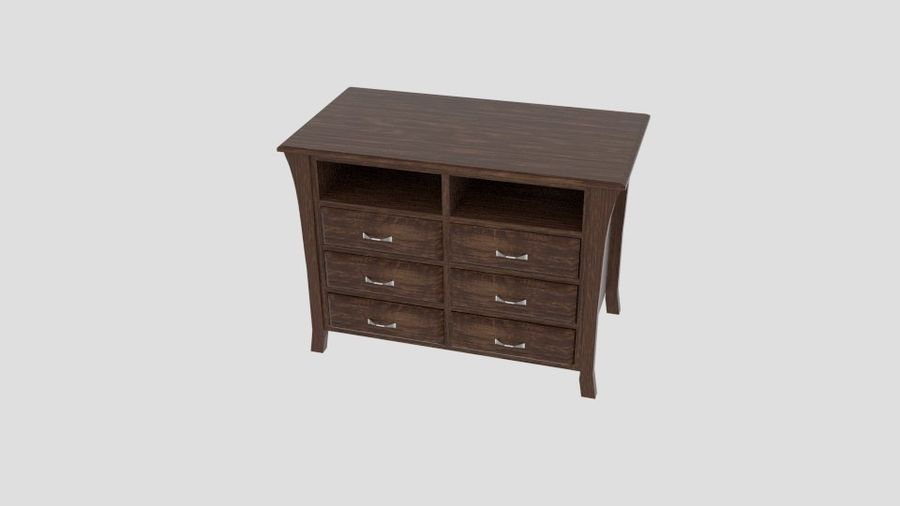 Bedroom Furniture Media Chest royalty-free 3d model - Preview no. 2
