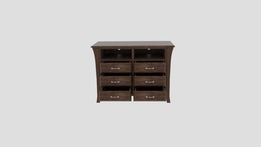 Bedroom Furniture Media Chest royalty-free 3d model - Preview no. 4