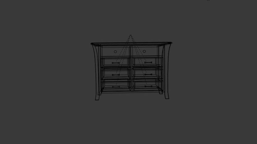 Bedroom Furniture Media Chest royalty-free 3d model - Preview no. 6
