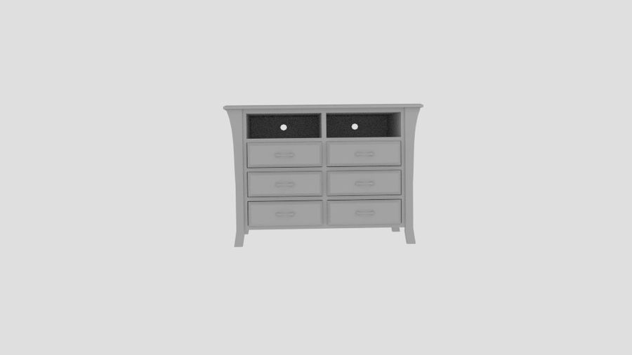 Bedroom Furniture Media Chest royalty-free 3d model - Preview no. 5