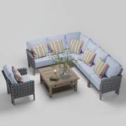 Fotel ogrodowy Paradise 3d model