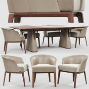 Giorgetti Aura椅子芳桌 3d model