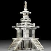 Pagoda di pietra coreana 3d model
