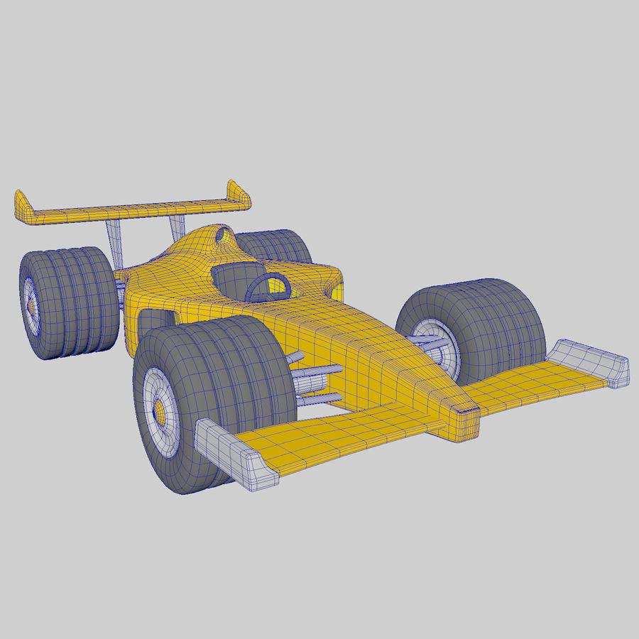 Cartoon Racing Car royalty-free 3d model - Preview no. 6
