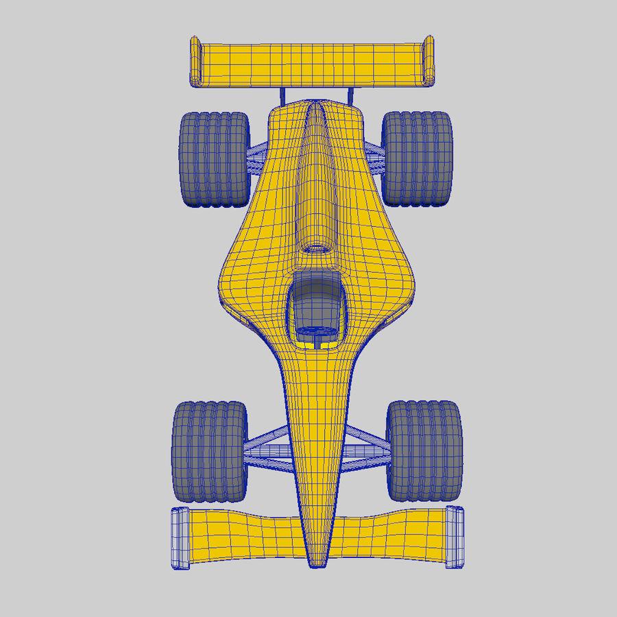 Cartoon Racing Car royalty-free 3d model - Preview no. 5