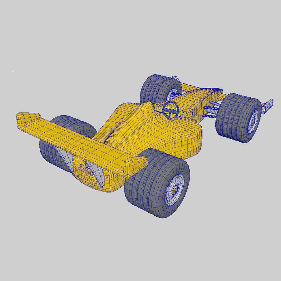 Cartoon Racing Car royalty-free 3d model - Preview no. 4
