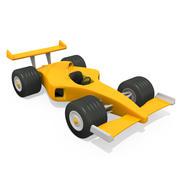 Cartoon Racing Car 3d model