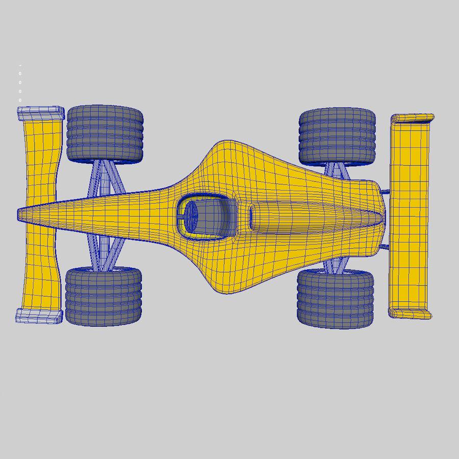 Cartoon Racing Car royalty-free 3d model - Preview no. 7