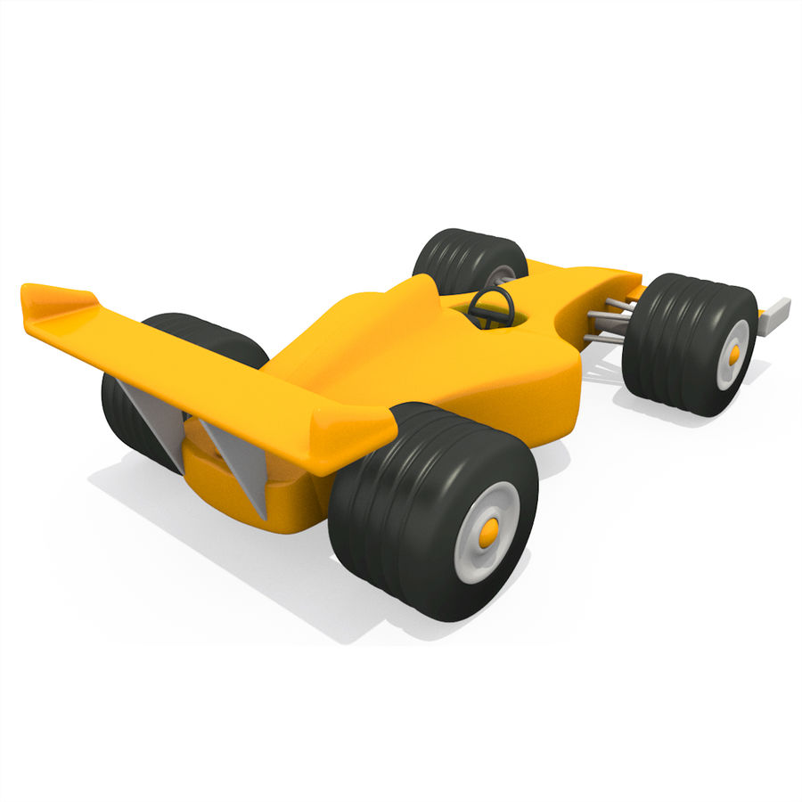 Cartoon Racing Car royalty-free 3d model - Preview no. 3