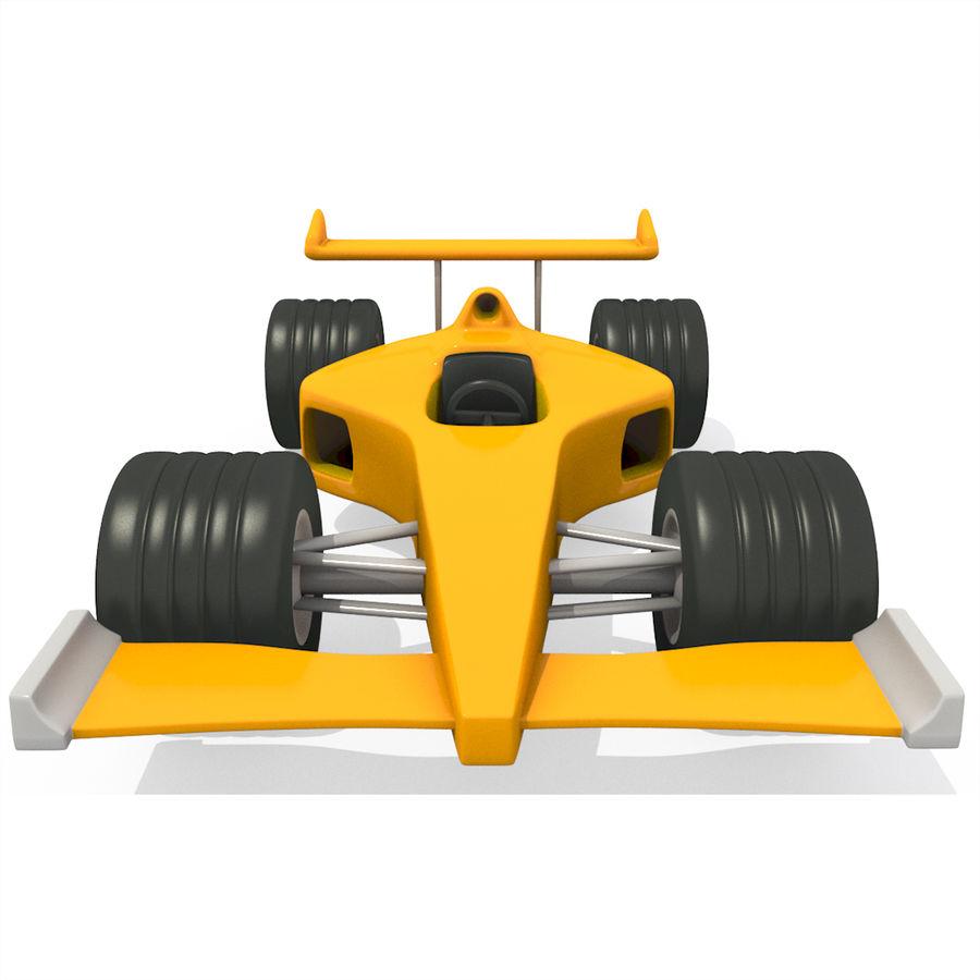 Cartoon Racing Car royalty-free 3d model - Preview no. 2