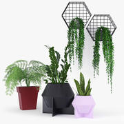 Frida Metal Planter 3d model
